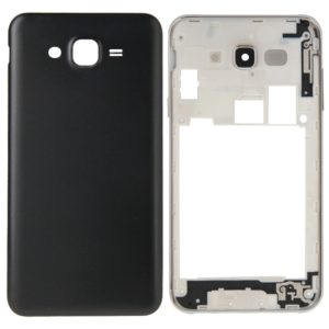 Full Housing Cover (Middle Frame Bezel + Battery Back Cover) for Galaxy J7(Black)
