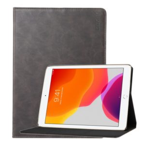 For Apple iPad 10.2 ENKAY Stand Folio Cover Leather Smart Case with Auto Sleep / Wake-up Function(Grey) (ENKAY)