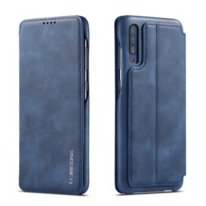 For Galaxy A50 Hon Ancient Series Leather Case with Card Slots & Holder & Wallet(Blue) (LC.IMEEKE)