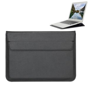 Universal Envelope Style PU Leather Case with Holder for Ultrathin Notebook Tablet PC 11.6 inch, Size: 32.5x21.5x1cm(Black)