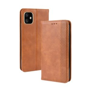 Magnetic Buckle Retro Crazy Horse Texture Horizontal Flip Leather Case for Apple iPhone 11 Pro 5.8, with Holder & Card Slots & Photo Frame(Brown)