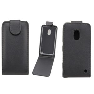 Vertical Flip Magnetic Snap Leather Case for Nokia Lumia 620(Black)