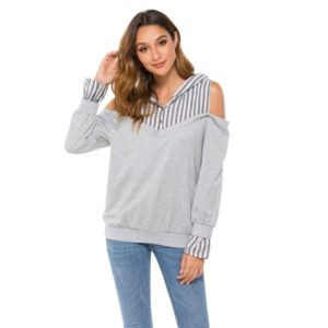 Fashion Personality Long-sleeved Shirts (Color:Grey Size:S)