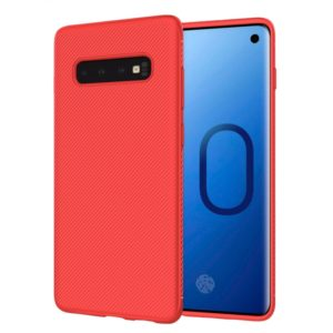 lenuo Leshen Series Stripe Texture TPU Case for Galaxy S10 Plus (Red) (lenuo)