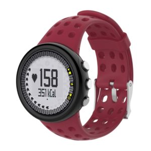 Silicone Male Replacement Wrist Strap for SUUNTO M1 / M2 / M4 / M5 (Wine Red)