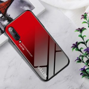 Shockproof Tempered Glass + TPU Case For Xiaomi Mi 9 SE(Black Red)