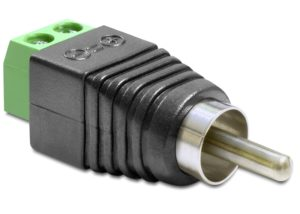 Delock Adapter RCA male to Terminal Block 2 pin (65417)