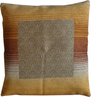 Διακοσμητικό Μαξιλάρι Jacquard Chenille Panel Des.250 Terracotta Double Face Carven Paris (45x45) 1Τεμ