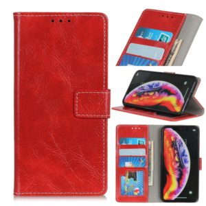 Retro Crazy Horse Texture Horizontal Flip Leather Case For Galaxy A10,with Holder & Card Slots & Wallet & Photo & Environmental PU (Red)