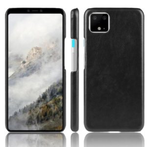 Shockproof Litchi Texture PC + PU Case For Google Pixel 4(Black)
