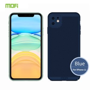 For iPhone 11 MOFI Breathable PC Ultra-thin All-inclusive Protective Case(Blue) (MOFI)
