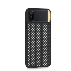 JOYROOM Cube Series for iPhone X PC + Zinc Alloy Protective Back Cover Case with Holder(Black) (JOYROOM)