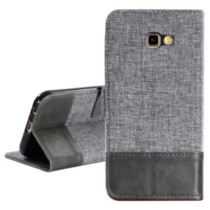 For Galaxy A7 (2017) MUXMA MX102 Horizontal Flip Canvas Leather Case with Stand & Card Slot & Wallet Function(Grey) (MUXMA)