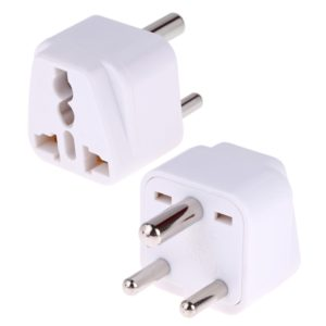 Portable Universal Socket to (Small) South Africa Plug Power Adapter Travel Charger (White)