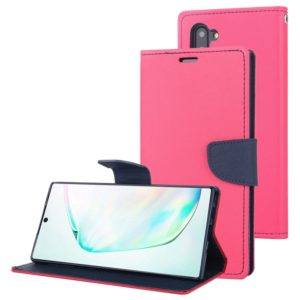 For Galaxy Note 10 MERCURY GOOSPERY FANCY DIARY Horizontal Flip Leather Case with Holder & Card Slots & Wallet(Rose Red) (GOOSPERY)