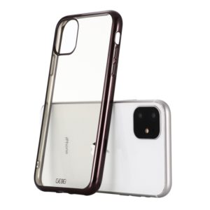 For iPhone 11 Pro GEBEI Plating TPU Shockproof Protective Case(Black) (GEBEI)