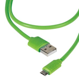 VIVANCO DATA CABLE MICRO USB 1.2m green