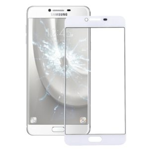 Front Screen Outer Glass Lens for Galaxy C7 (White)