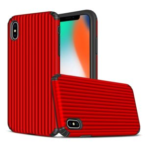 Travel Box Shape TPU + PC Protective Case for iPhone XS Max (Red)