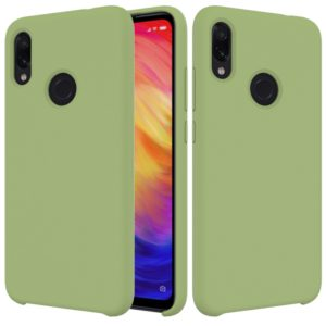 Solid Color Liquid Silicone Dropproof Protective Case for Xiaomi Redmi Note 7(Green)