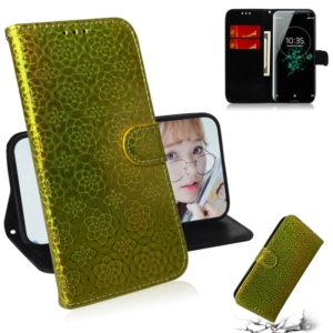 For Sony Xperia XZ3 Solid Color Colorful Magnetic Buckle Horizontal Flip PU Leather Case with Holder & Card Slots & Wallet & Lanyard(Gold)