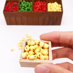 30 PCS / 3 Packs 1:12 Mini Doll House Simulation Peach Kitchen Food Play Accessories Miniature Fruit Decoration