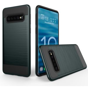 Brushed Texture PC + TPU Protective Case for Galaxy S10 5G (Navy Blue)