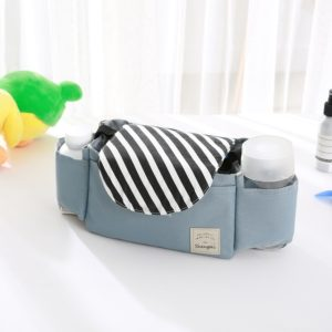 Baby Stroller Accessories Bag Bottle Bag Stroller Organizer Baby Carriage Cup Bag(Black Strips)