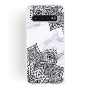 Diagonal Lace Matte Semi-transparent TPU Marble Phone Case for Galaxy S10