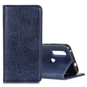 Magnetic Crazy Horse Texture Horizontal Flip Leather Case for Asus Zenfone Max Plus (M2) ZB634KL / Zenfone Max Shot ZB634KL, with Holder & Card Slots & Wallet (Blue)