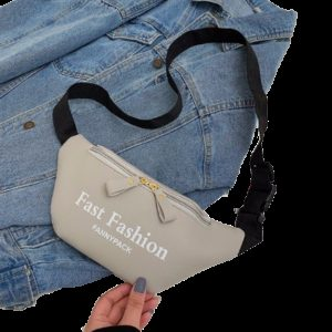 Fashion PU Leather Single Shoulder Bag Chest Waist Bag Messenger Bag