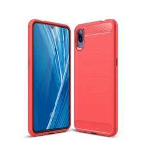 Carbon Fiber Texture TPU Shockproof Case For Vivo X23 Symphony Edition (Red)