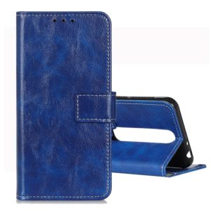 For Vodafone Smart N10 Retro Crazy Horse Texture Horizontal Flip Leather Case with Holder & Card Slots & Wallet & Photo Frame(Blue)
