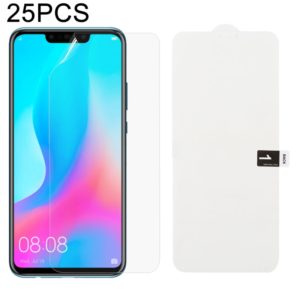 25 PCS Soft Hydrogel Film Full Cover Front Protector with Alcohol Cotton + Scratch Card for Huawei Nova 3 / 3i