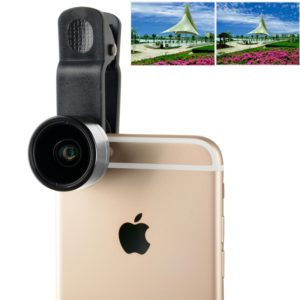ZOMEI Universal 0.36X Wide Angle Lens with Clip, For iPhone, Samsung, HTC, Sony, Huawei, Xiaomi, Meizu(Silver) (ZOMEI)