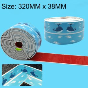 PVC Sea Pattern Kitchen and Bathroom Waterproof and Mildew Proof tape Toilet Sticker, Size:38mm x 3.35m(Blue)