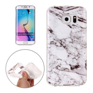 For Galaxy S6 Edge / G925 White Marbling Pattern Soft TPU Protective Back Cover Case