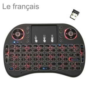 Support Language: French i8 Air Mouse Wireless Backlight Keyboard with Touchpad for Android TV Box & Smart TV & PC Tablet & Xbox360 & PS3 & HTPC/IPTV