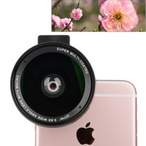 ZOMEI Universal 0.6X Wide Angle Lens with Clip, For iPhone, Samsung, HTC, Sony, Huawei, Xiaomi, Meizu (ZOMEI)