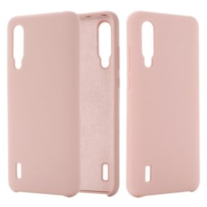 Solid Color Liquid Silicone Dropproof Protective Case for Xiaomi Mi CC9(Pink)