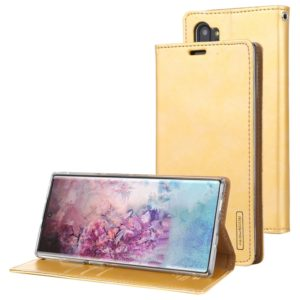 For Galaxy Note 10+ MERCURY GOOSPERY BLUE MOON FLIP Series Crazy Horse Texture Horizontal Flip Leather Case with Holder & Card Slots & Wallet(Gold) (GOOSPERY)