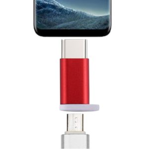 Type-C Male to Micro USB 2.0 Female Converter Adapter, For Galaxy S8 & S8 + / LG G6 / Huawei P10 & P10 Plus / Oneplus 5 / Xiaomi Mi6 & Max 2 /and other Smartphones(Red)