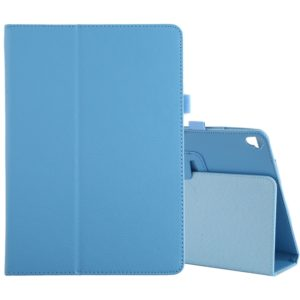 For iPad 10.2 / 10.5 Litchi Texture Horizontal Flip Leather Case with Holder(Blue Sky)