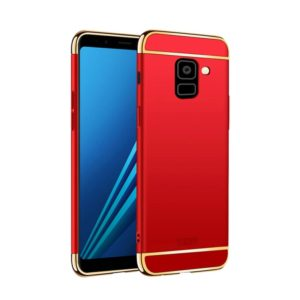 MOFI for Galaxy A8+ (2018) Three Stage Splicing Full-body Rugged PC Protective Back Cover Case(Red) (MOFI)