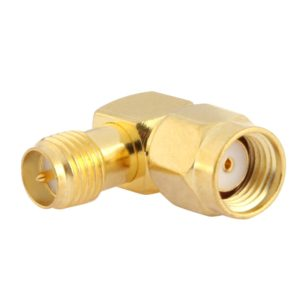 Gold Plated RP-SMA Male to RP-SMA Female Adapter