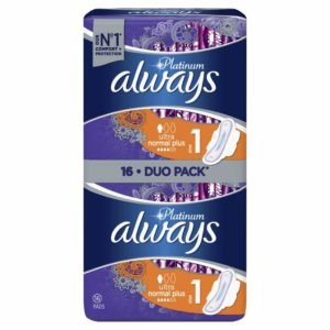 Always σερβιέτα platinum ultra normal plus 16 τεμαχίων dp
