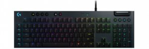 Logitech G815, Lightsync RGB Mechanical Tactile Keyboard, US Layout, Black (920-008992)