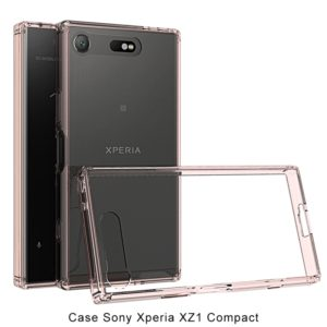 Scratchproof TPU + Acrylic Protective Case for Sony Xperia XZ1 Compact(Pink)