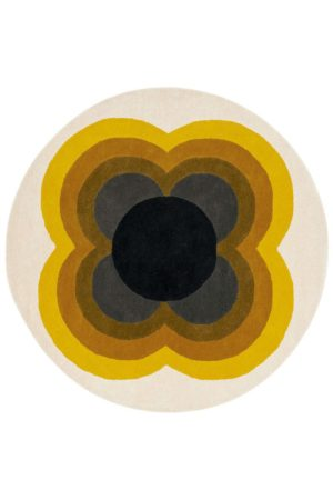 Χαλί Sunflower 060006 Yellow Round Orla Kiely 150X150cm Round