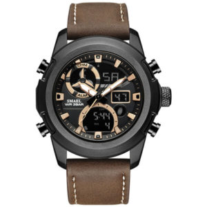 SMAEL 1426 Sports Watch Military Dual Display - Brown